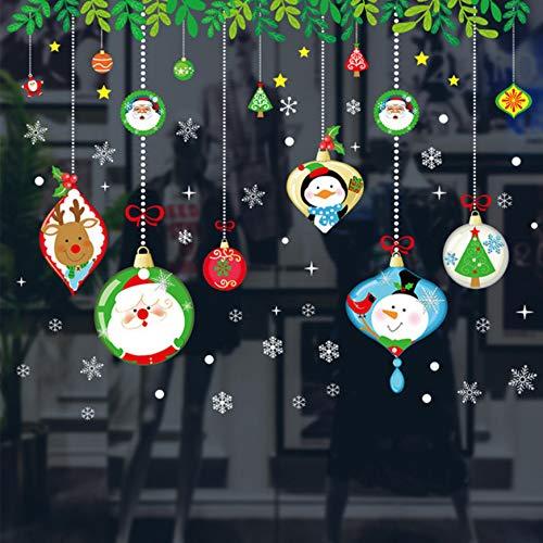 chten Thema Wandkunst Aufkleber Für Office Store Home Fenster Dekoration Pvc Poster Diy Weihnachten Festival Wandtattoos ()