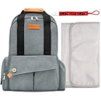 ddbee9a76027b Amazon.co.uk  Grey - Nappy Backpacks   Changing Bags  Baby Products
