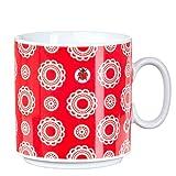 Feinkost Käfer GmbH 102738 Geschirr, Porzellan, Weiß/Rot, 10.5 x 8 x 8 cm, 1 Einheiten
