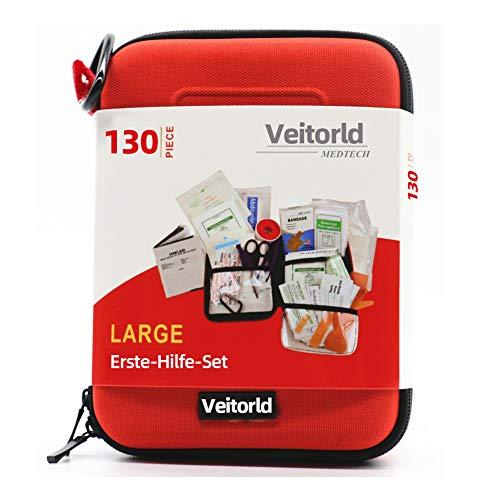 Veitorld Erste-Hilfe-Set Erdbeben-Überlebenskit für Notfälle zu Hause, im Auto, Camping, Reisen, im Boot, Erste-Hilfe-Set für Schule, Büro, Fahrzeuge, Camping und Sport -