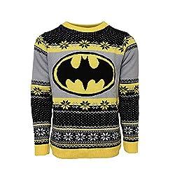 Batman Logo Xmas Pullover L