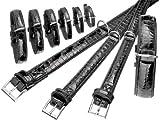 """Karlie BUFFALO KROKO Halsband - Schwarz, Breite/L""""nge, 40 mm, 65 cm, Halsband fr Hunde"""