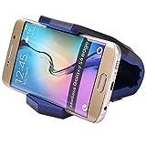 Finoo Universal Auto-Handy-Halterung | Smartphone Auto KFZ Halterung | Krokodil Klammer für das Armaturenbrett | Für z.B. iPhone 6S/6/6S Plus/6 Plus/7/7 Plus | Blau