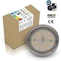 Lampada GX53 LED da 8W, colore bianco luce giorno 5000K, equivalente alogeno 230VAC 50Hz, 750LM, 75W.