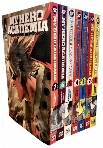 My Hero Academia Volume 1-7 Collection 7 Books Set