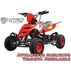 Motorbimbo Nitro Motors MIni Quad 50 Repti 4 Rosso