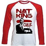 Photo de Teesquare1st Men's NAT KING COLE JAZZ Red Long Sleeved T-shirt Size par TEESQUARE1st
