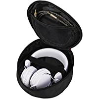 Hama Kopfhörer-Tasche für On Ear/Over Ear Headset (Netz-Innentasche, Case mit Karabinerhaken, Innenmaß 17 x 6 x 16,5, universelle Schutztasche) schwarz
