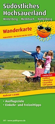 Preisvergleich Produktbild Südöstliches Hochsauerland, Winterberg - Medebach - Hallenberg: Wanderkarte mit Ausflugszielen, Einkehr- & Freizeittipps, wetterfest, reissfest, abwischbar, GPS-genau. 1:25000 (Wanderkarte / WK)