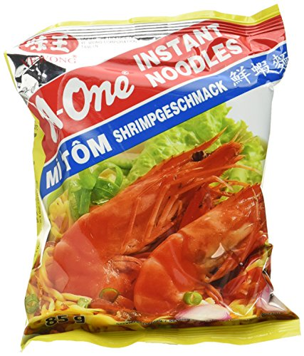 A-ONE Instantnudeln, Shrimps, 30er Pack  (30 x 85 g)
