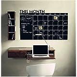 hgamy (TM) mi calendario pizarra de vinilo (color: negro)