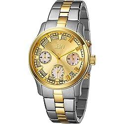 Just Bling Damen JB-6217-C Two-Tone Chronograph Diamond Watch