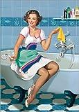 Posterlounge Impresión en Madera 120 x 170 cm: The Woman in a Bathroom de Tanja Doronina