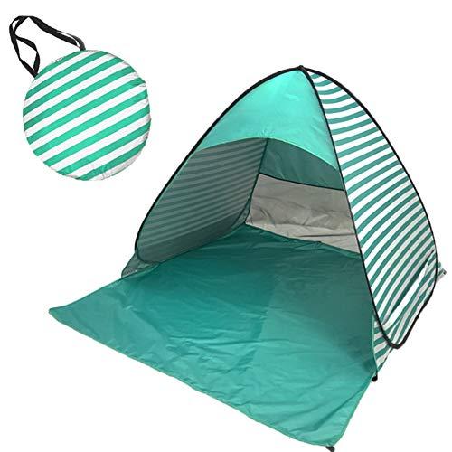 MISSMAO_FASHION2019 Strandmuschel Pop-up Strandzelt Extra Leicht,Familien Windschutz Zelt Leichtes 2- bis 3-Personen-Zelt für Strand oder Rucksack mit Tagetasche Grün Einheitsgröße