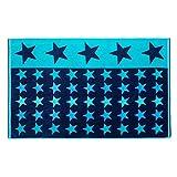 Gözze Strandtuch, 100% Baumwolle, 100 x 160 cm, Sterne, Blau/Petrol, 10001-27
