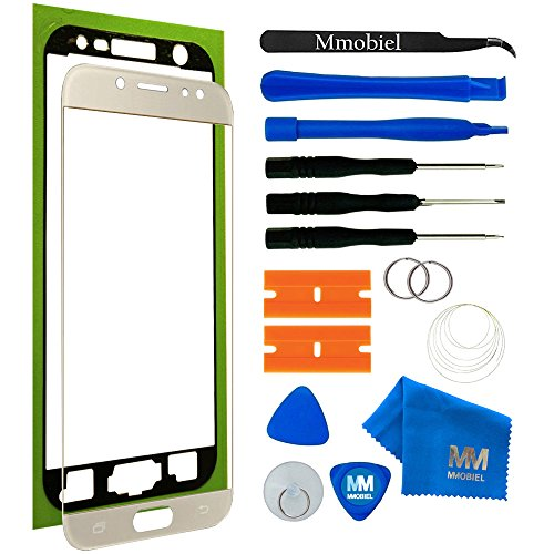 MMOBIEL Kit de Reemplazo de Pantalla Táctil para Samsung Galaxy J7 Pro J730 Series (Oro) 5.5 Pulgadas Incluye Kit de Herramientas/Etiqueta precortada/Limpiador de Microfibra/Alambre Metálico