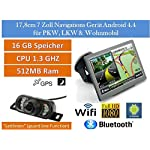 17,8cm 7 Zoll Android 4.4,PKW,GPS,Navigationsgerät,Navigation,WIFI,Wohnmobil, Neuste Europa Karten sowie Radarwarner,Tablet PC,Internet,Wohnmobil,LKW,Auto,16GB Speicher, HD Display,AV-IN,Bluetooth,Radarwarner,Rückfahrkamera