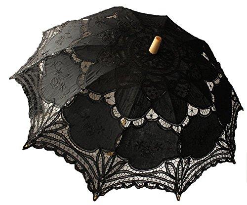 antische Hochzeit Party Sonnenschirme Foto Requisiten Regenschirm - Schwarz ()