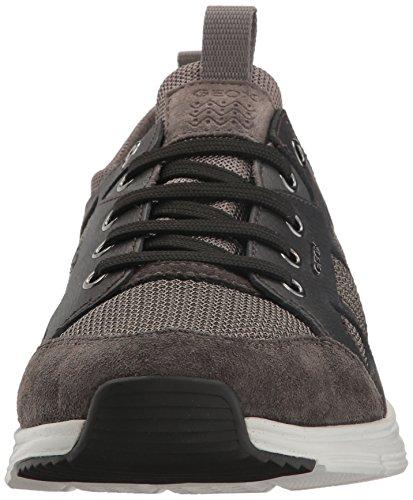 Geox U Snapish B, Sneakers Basses Homme Noir (Anthracite/Blackc9211)