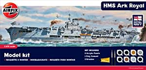 Airfix 1:600 Scale Royal Navy HMS Ark Royal Plastic Model Gift Set