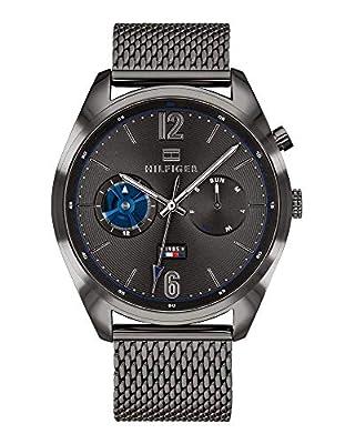 Tommy Hilfiger Reloj Multiesfera para Hombre de Cuarzo con Correa en Acero Inoxidable 1791546