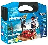 Play Mobil- Valigetta con Zattera del Pirata, 5655