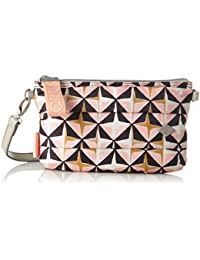 Oilily Ruffles Geometrical Shoulderbag Mhz 1, Shoppers y bolsos de hombro Mujer, Rosa (Rose), 2x15x25 cm (B x H T)