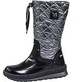 CAPRICE Damen TEX-Stiefel schwarz Silber Größe 37 bis 42 Schneestiefel, Farben:schwarz, Damen Größen:37.5