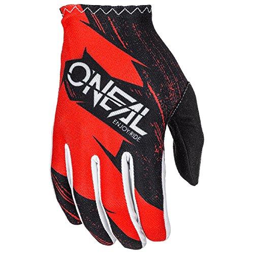 0388R-129 - Oneal Matrix 2018 Burnout Motocross Handschuhe M rot schwarz