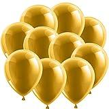 100x Rundballons Gold Ø15cm + Geschenkkarte + Portofrei mgl. High Quality Premium Ballons vom Luftballonprofi & Deutschen Heliumballon Experten. Tolle Luftballondeko und Geschenkidee mit Ballons.