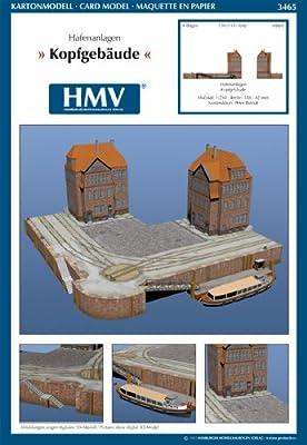 HMV 3465 Kartonmodell Hafenanlagen - Verwaltungsgebäude von HMV - Hamburger Modellbaubogen Verlag