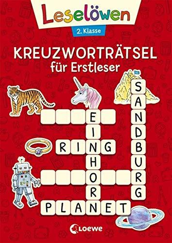 Leselöwen Kreuzworträtsel für Erstleser - 2. Klasse (Rot) (Leselöwen Rätselwelt)
