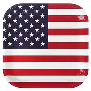 themen mottoparty usa amerika pappteller partyteller k che haushalt. Black Bedroom Furniture Sets. Home Design Ideas