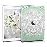 kwmobile Hülle für Apple iPad Air 2 - Case Handy Schutzhülle TPU Silikon für Tablet - Backcover Cover klar Mintgrün Weiß Transparent