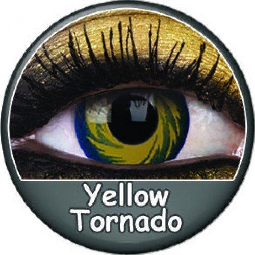 PHANT YELLOW TORNADO farbige Kontaktlinsen gelb blau manga cosplay halloween zombie vampire kostüme fashing (Tornado Halloween Kostüme)