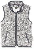 Playshoes Mädchen Strickfleece-Weste mit Kontrastnähten, Oeko-Tex Standard 100 Grau (Grau 33), 98