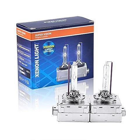 Somaer HID Xenon Replacement Bulbs - D3S - 4300K(1 Pair) ,D3S Bulbs