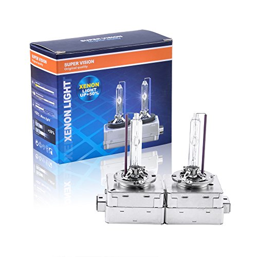 Somaer HID Xenon Replacement Bulbs - D3S - 4300K(1 Pair) .D3S Blubs- 2 Year Warranty