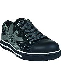 """'RUNNEX Alto Zapatos de seguridad S3""""5342Sport Star Botín en zapatillas de imitación, color negro"""