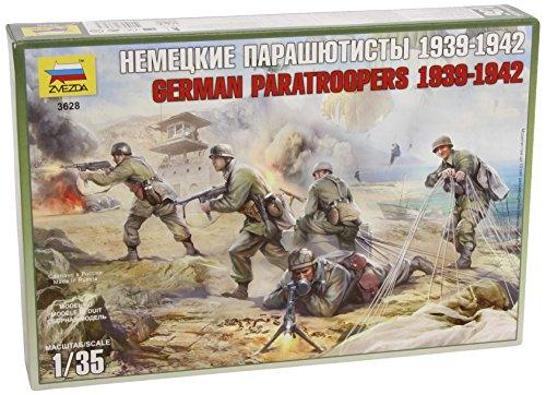 Zvezda - set soldatini della seconda guerra mondiale, fanteria tedesca, 4 pz, scala 1:35