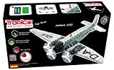 Metal Construction Model Kit, JUNKERS JU 52, airplane with 3 engines, 908 parts, Tronico© Germany, including tools, metal mechanical construction, kids metal kits, metal mechanics kits