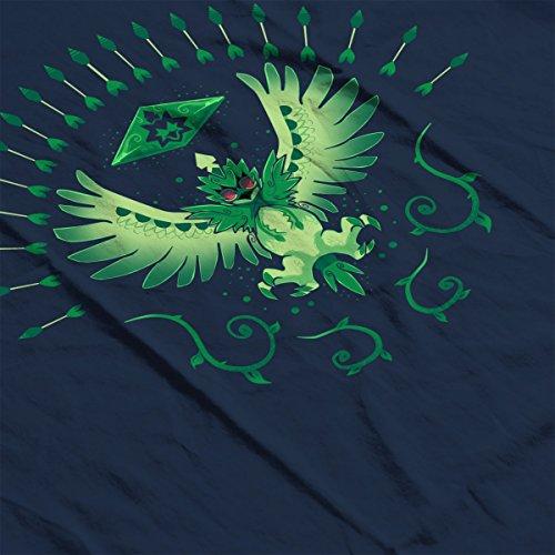 Grass Arrow Strike Decidueye Pokemon Women's Hooded Sweatshirt Navy Blue