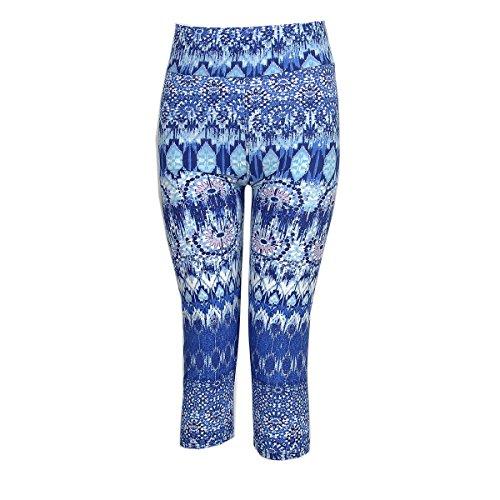 Fliegend Leggings Mujer Push Up 3/4 Malla de Cintura Alta Pantalones de Yoga Fitness Impresión Leggins Elásticas Pantalones Deportivos 20 Colores