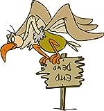 PEMA INDIGOS UG - Wandtattoo Wandsticker Wandaufkleber Aufkleber bunt ME254 schöner Vogel Wegweiser 120 x 112 cm