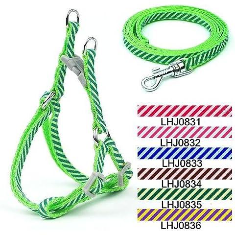 Rifornimenti dell'animale domestico cane corda guinzaglio cane trazione corda 0,8 cm pet giocattolo cane tirare cablaggio con twill dedicato , green