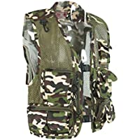 Homyl Chaleco Multifunción Deporte Escalada Ropa de Pesca Camisa de Cazar Ocio Ropa Técnica Confortable