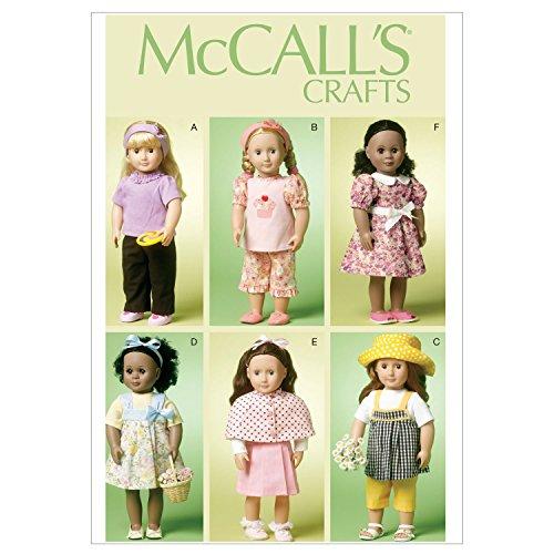 MC Call's 6526 - Cartamodello per Vestito Bambole, Altezza Massima 45 cm