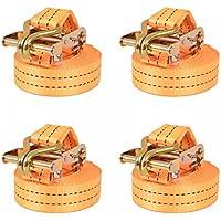 FZYHFA Correas de Sujeción Naranja,de Trinquete 4 uds 2 T 6mx38mm