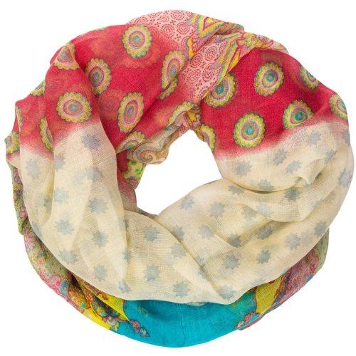 CASPAR - SC370 - Écharpe tube pour femme/Foulard / Châle avec imprimé étoiles, Paisley, ronds, indien - plusieurs coloris