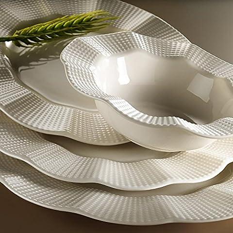 Luxury Kütahya Porcelain Essservice Dinner Plates 24-Piece Set Wedding Engagement Birthday Party Milena